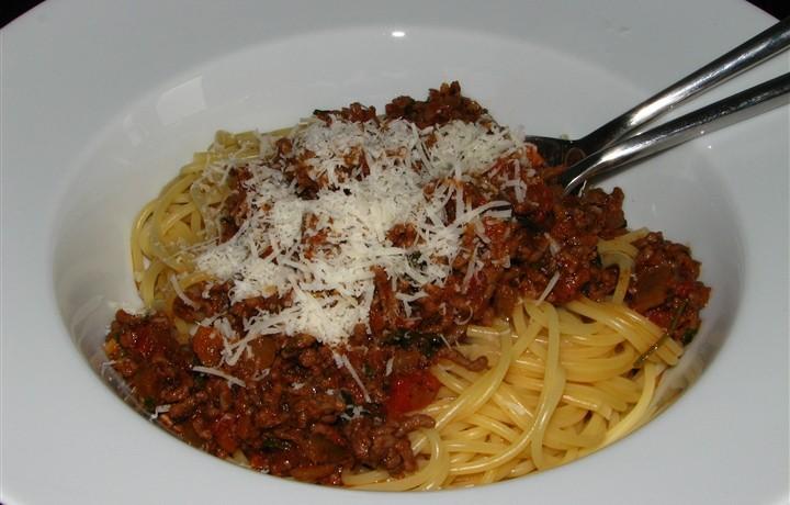 Bolognese saus met linguini