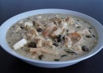 Groene Thaise Curry met Vis en Garnalen