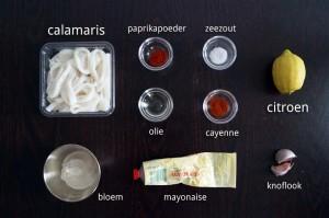 Ingrediënten voor Gefrituurde Calamaris