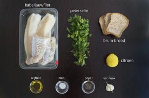 Ingrediënten voor Kabeljauwfilet met Krokante Korst