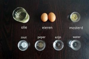Ingrediënten Zelfgemaakte Mayonaise