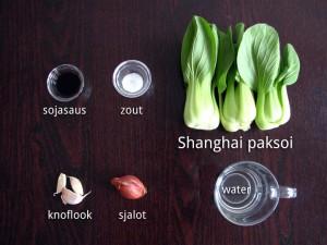 Ingrediënten voor Roergebakken Shanghai Paksoi