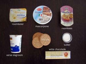 Ingrediënten voor Cheesecake met Witte Chocolade