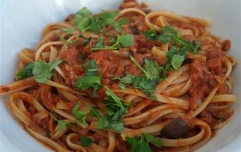 Pasta Puttanesca met Tonijn