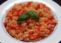 Risotto met Tomaten