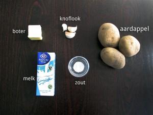Ingrediënten voor Romige Aardappelpuree